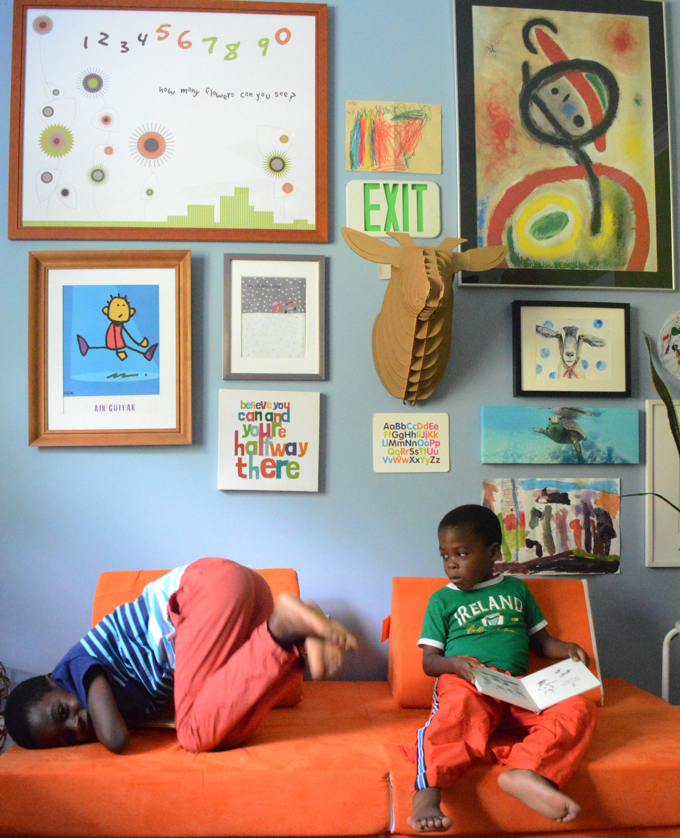 Artfilled and Colorful Kids Space