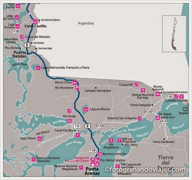 mapa ruta Baqueanos