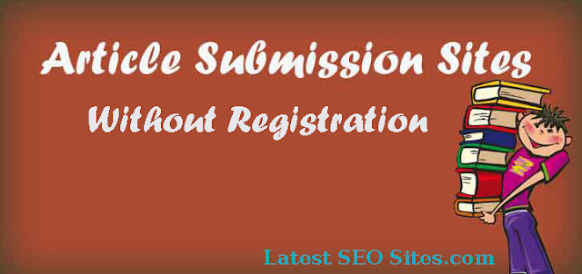Free Article Submission Sites Without Registration