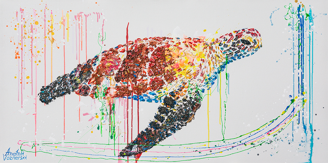turtle  acrylic painting,turtle heavy textured painting, turtle dot, unique turtle painting on canvas, anatoli turtle  , anatoli voznarski art ,turtle  wall painting, abstract turtle painting, animal painting,office painting, modern turtle
