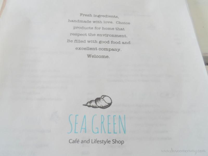 Sea Green Cafe Menu