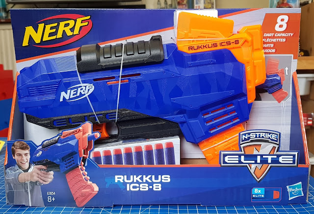 Nerf Rukkus ICS-8 Nerf N-Strike Elite from Hasbro in box