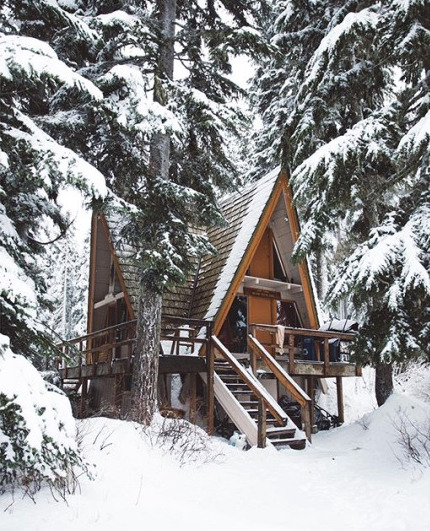 Oh By The Way An A Frame Cabin In The Woods