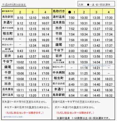 ゆめぐりエクスプレスバス 湯村温泉巴士班次時間表