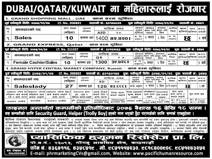Jobs in Dubai, Qatar and Kuwait for Nepali, Salary Rs 43,888