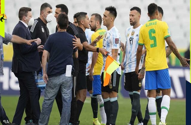 اقتحام مسؤولي وزارة الصحة البرازيلية يؤجل المباراة بين البرازيل و الارجنتين