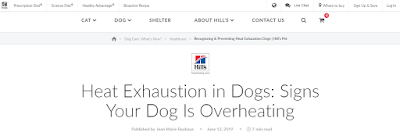 Hill's Pet Header Screenshot - Heat Exhaustion in Dogs: Signs Your Dog Is Overheating By Jean Marie Bauhaus - Hill's Pet