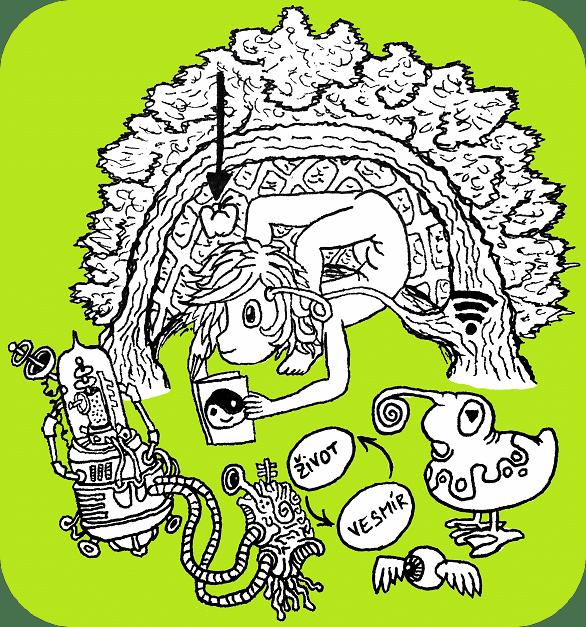 obrázek Wesmírodivný hadí kluk v živém stromovém altánku, autor Sebastián Wortys