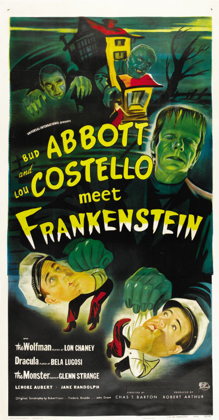 abbott and costello meet frankenstein original poster gold