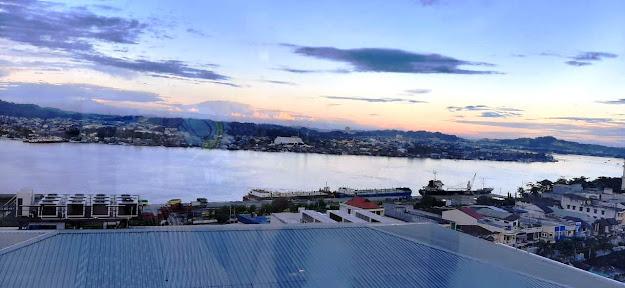 Pemandangan Sungai Mahakam dari Hotel Ibis Samarinda