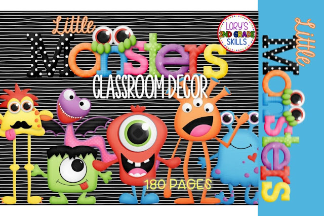 Monster Classroom Decor : Lory s nd grade skills little monster classroom decor