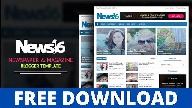 Download News16 - Professional News & Magazine Blogger Template