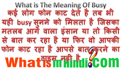 What is the meaning of Busy in Hindi