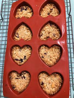 Coeurs de céréales aux noix de cajou et cranberries après cuisson