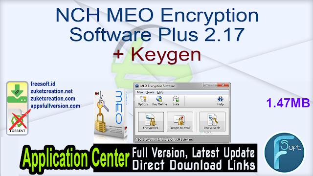 NCH MEO Encryption Software Plus 2.17 + Keygen