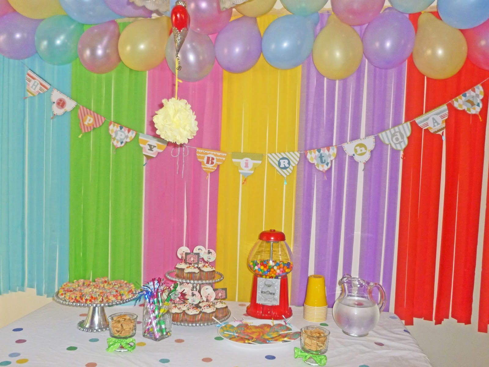Birthday Decorations With Streamers Image Inspiration Of  sc 1 st  Elitflat & Birthday Party Streamer Decoration Ideas - Elitflat
