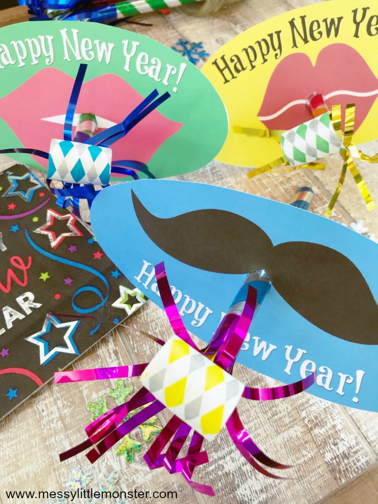 New years eve with kids. How to make DIY party blowers