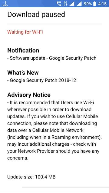 Nokia 6 receiving december 2018 android security patch