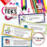 https://www.teacherspayteachers.com/Product/Second-Grade-TEKS-Illustrated-and-Organized-820126