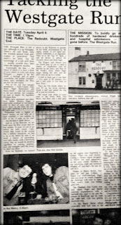 Photograph of the original Westgate Run newspaper feature