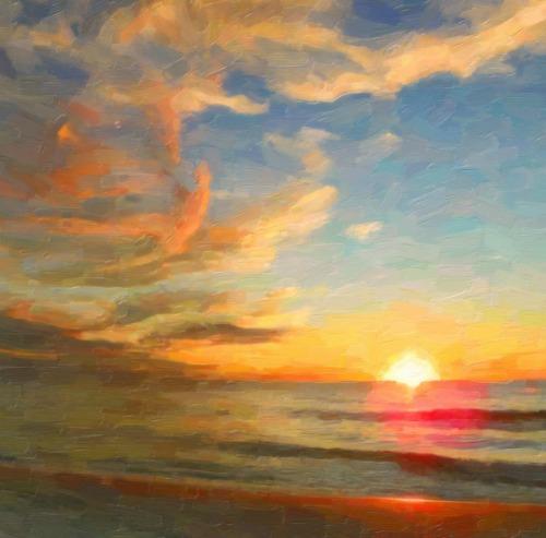 Beach Sunset Canvas Art