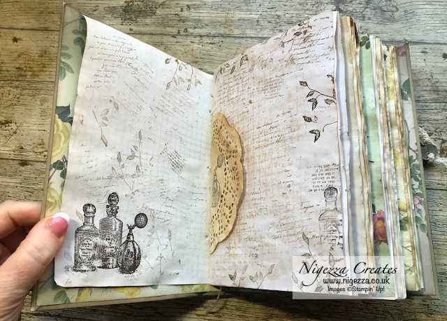 Nigezza Creates with Stampin' Up! My First Junk Journal: #4 Stamping On The Pages