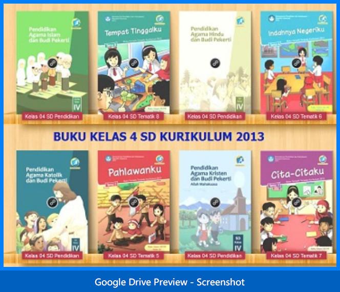 Buku Guru dan Siswa Kelas 4 SD Kurikulum 2013 Lengkap