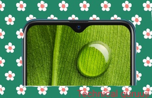 Oppo A7 with dewdrop notch display