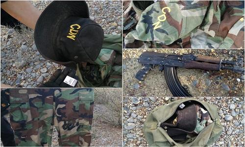 Fotos: Armas, equipo táctico y camuflado con las las iniciales del CDN son tumbadas a Sicarios en General Treviño
