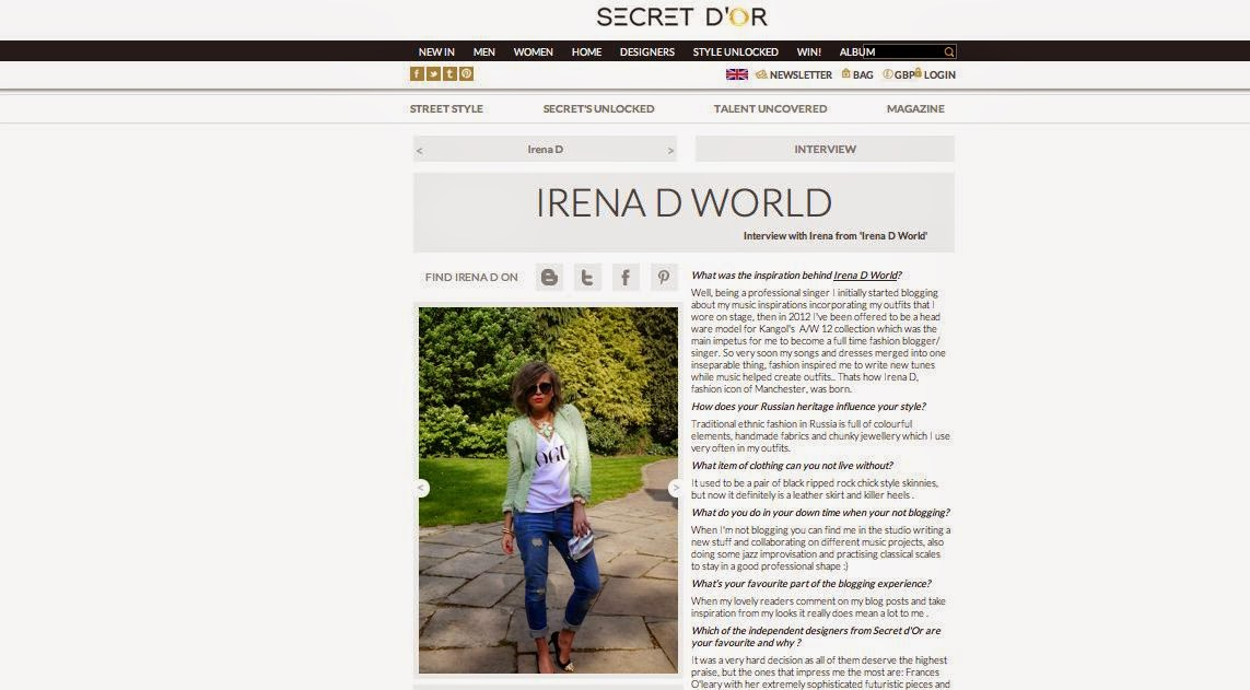 INTERVIEW IN SECRET D'OR