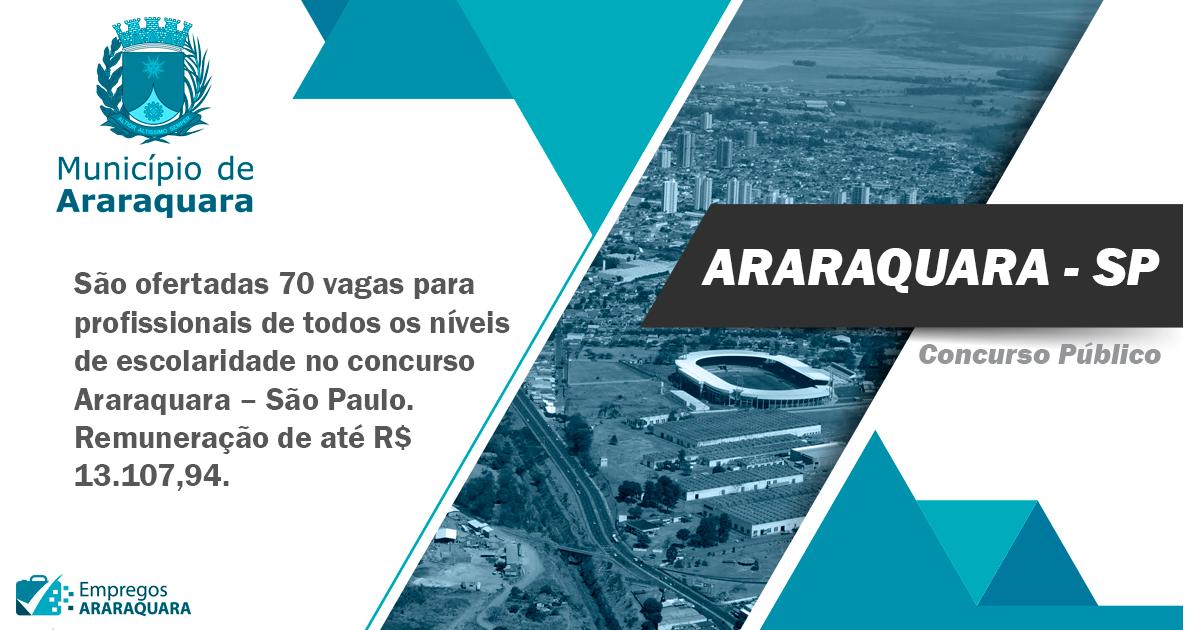 Concurso Prefeitura de Araraquara – SP: publicados três editais
