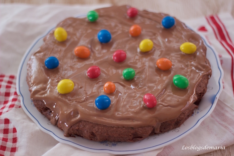 Bizcocho de chocolate y M&M´S
