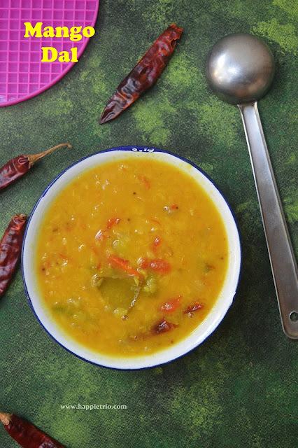 Mango Dal Recipe   Mamidikaya Pappu Recipe   Raw Mango Pappu