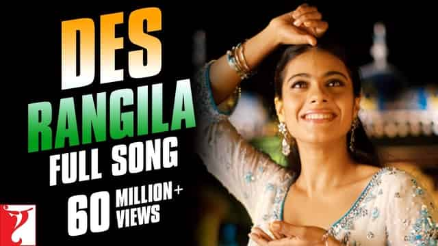 देस रंगीला Des Rangila Lyrics In Hindi - Fanaa   Kajol