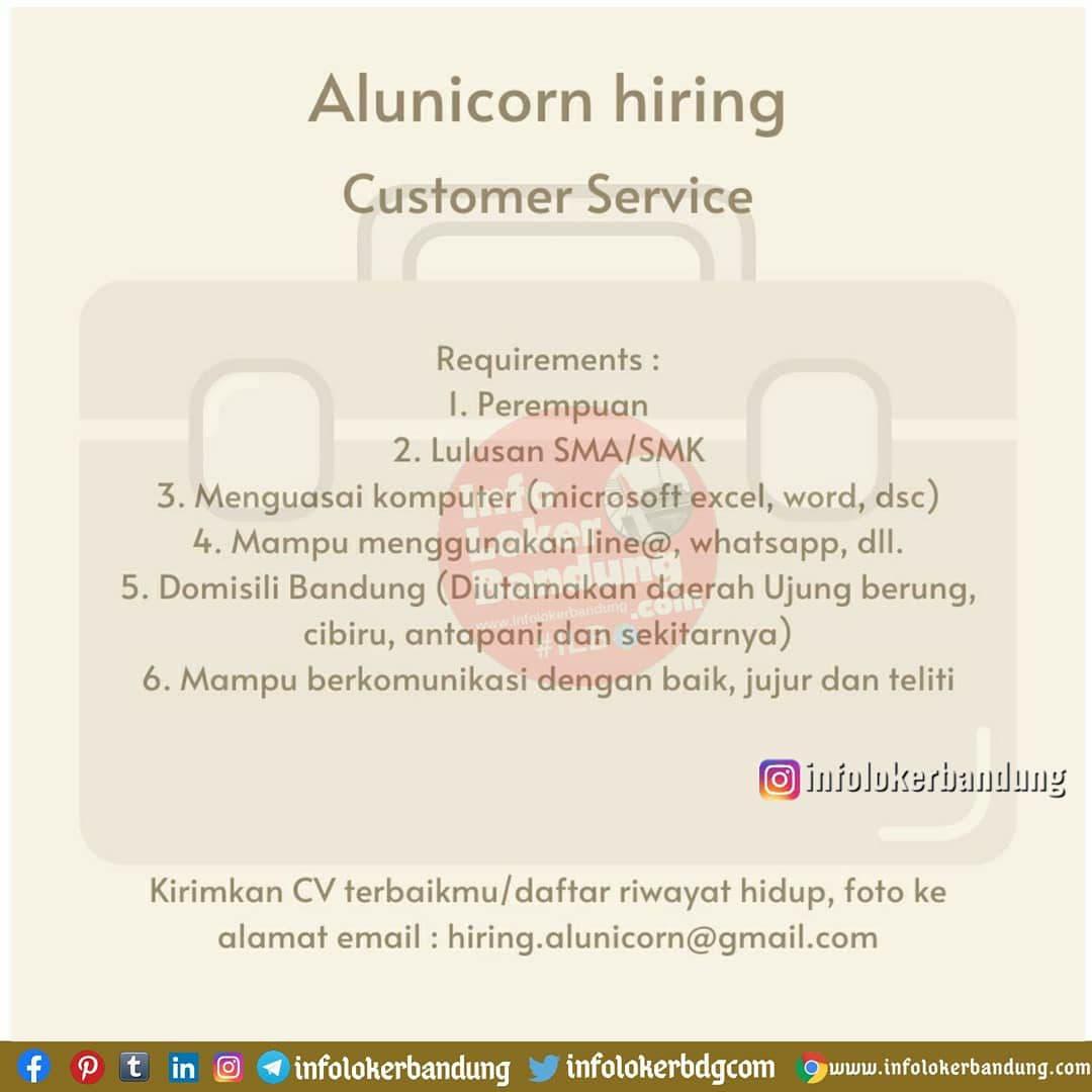 Lowongan Kerja Alunicorn Bandung Desember 2020