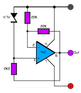 Stabilised zener voltage