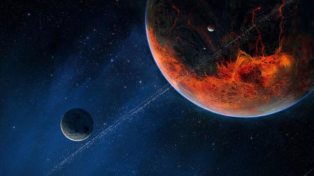 Papel de parede grátis Espaço Planeta Alienígena para PC, Notebook, iPhone, Android e Tablet.