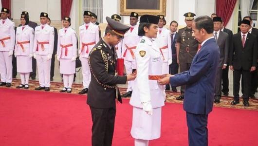 Daftar Nama 68 Paskibraka HUT RI 2019 yang Dikukuhkan Jokowi