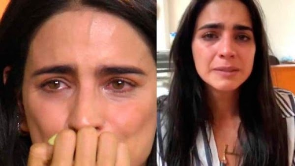 Bárbara de Regil con lagrimas en los ojos, se defiende tras dar cabezazo a su mamá