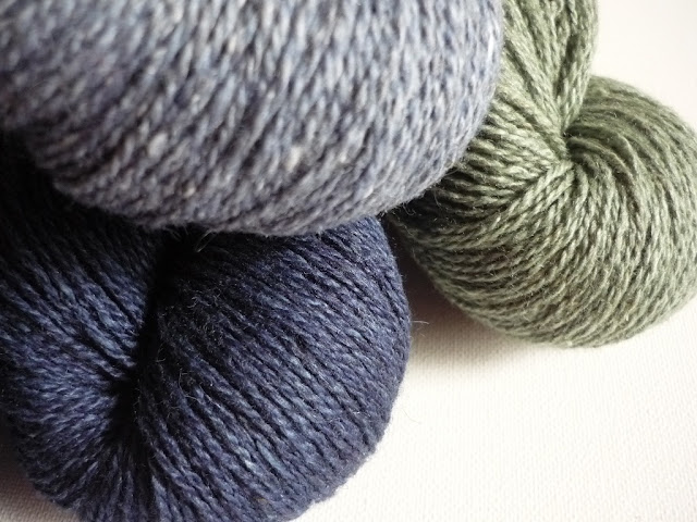 Blacker Yarns Samite in three shades