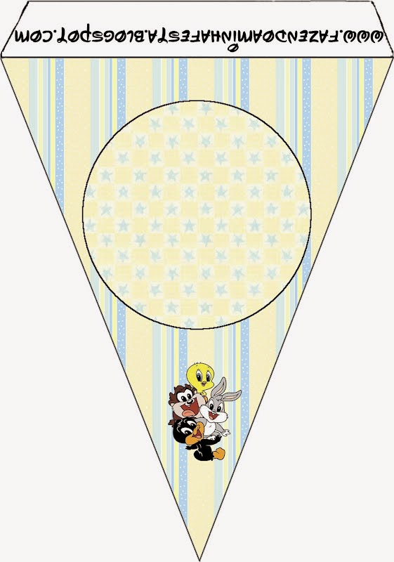 Free Printable Bunting of Lonney Tunes Babies.