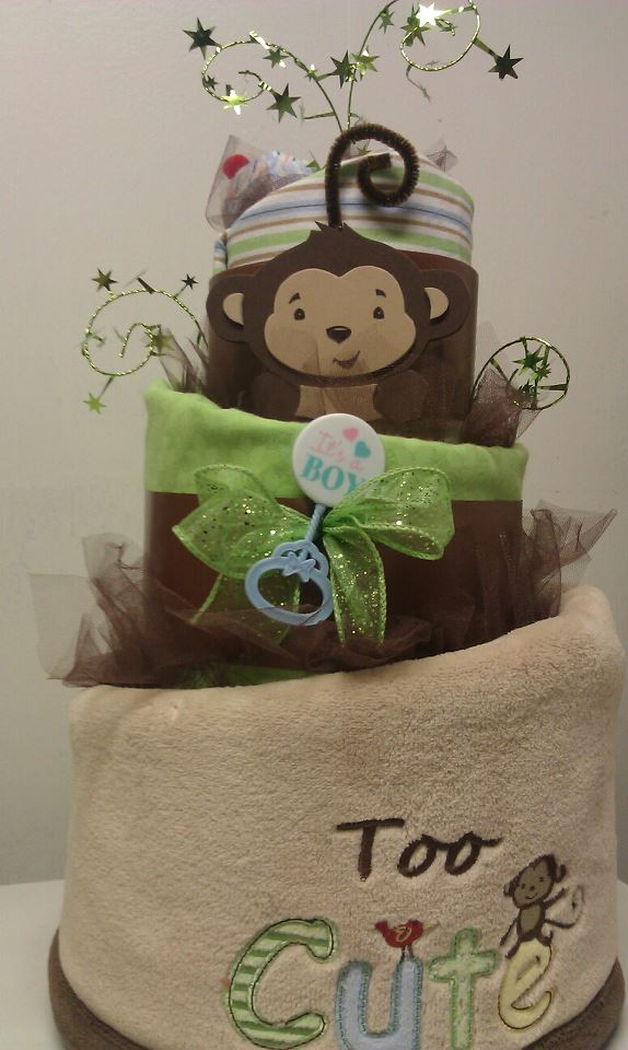Adriana S Creations Topsy Blanket Diaper Cakes