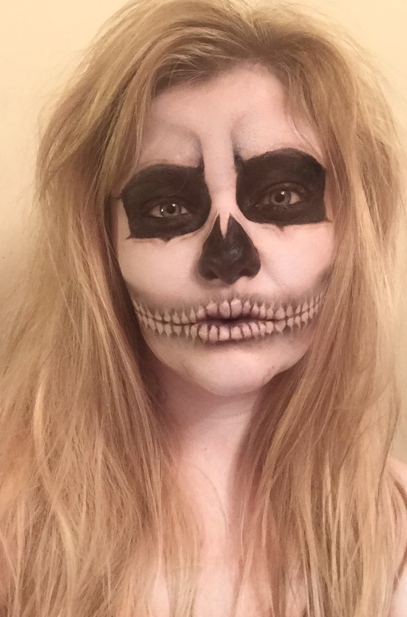 Easy Makeup Tutorial And Style For Android: Skull Tutorial - Simple Halloween Makeup #5