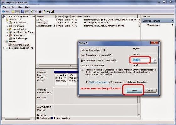 Cara Mudah Membuat Partisi Harddisk Baru Windows 7