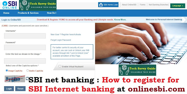How to register for SBI Internet banking