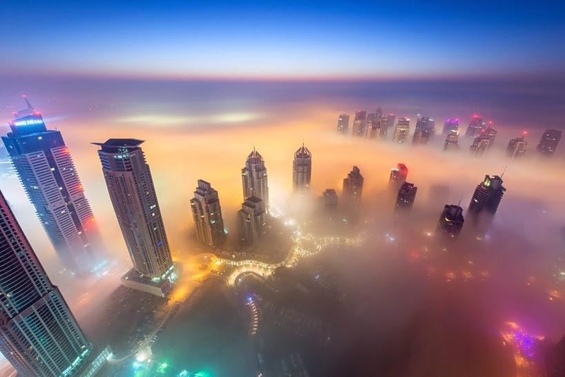 Dubai paisajes increibles, cielo estrellado