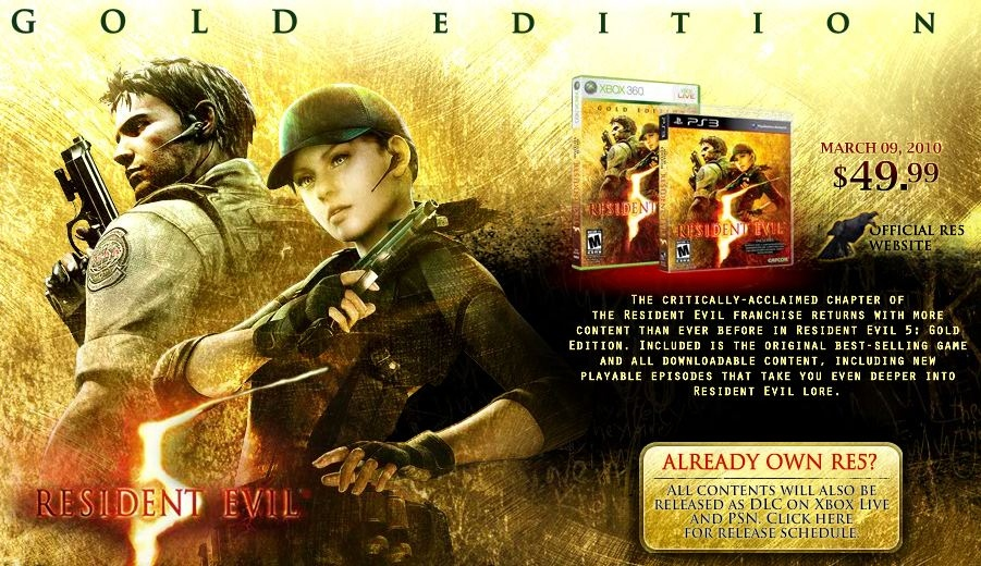 Resident Evil 5 Gold Edition PC Download Poster
