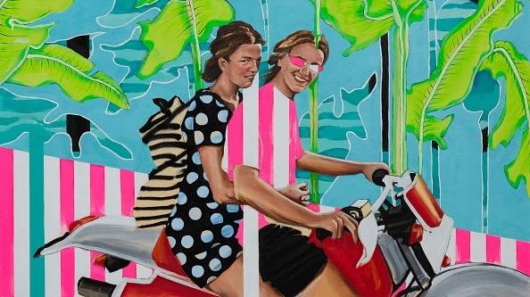 """Έκθεση ζωγραφικής της Στέλλας Καπεζάνου με τίτλο """"just a few drops of pink Coppertone"""""""
