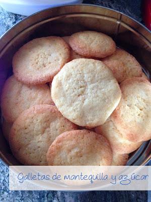 Galletas de mantequilla y azucar