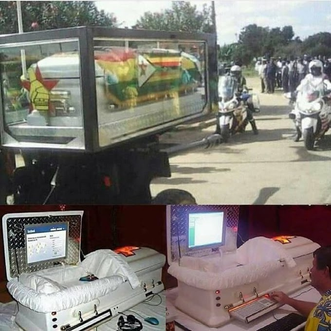 (pics) Mugabe's computerized coffin will allow his family members to see him while in his grave